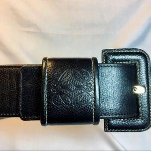Loewe Madrid 1846 leather belt.